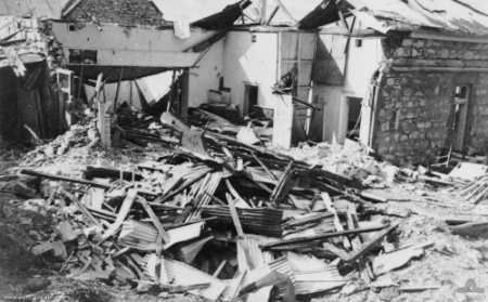 Remains_of_the_Darwin_Post_OfficeRemains of the Darwin Post Office after the first Japanese Air Raid. 19 February 1942.