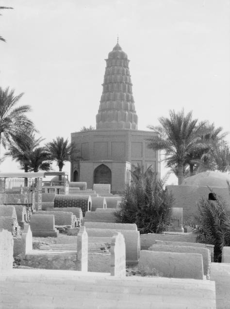 Baghdad-Zumurrud-Khaton Zumurrud Khatun Tomb (1200 CE.), in cemetery at Baghdad. October 1932.