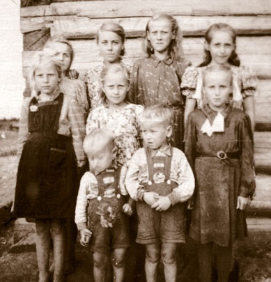 Estonian children who had been forcibly deported to Siberia by Russian authorities. 1952.