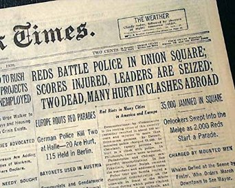 Image result for new york times reds communists