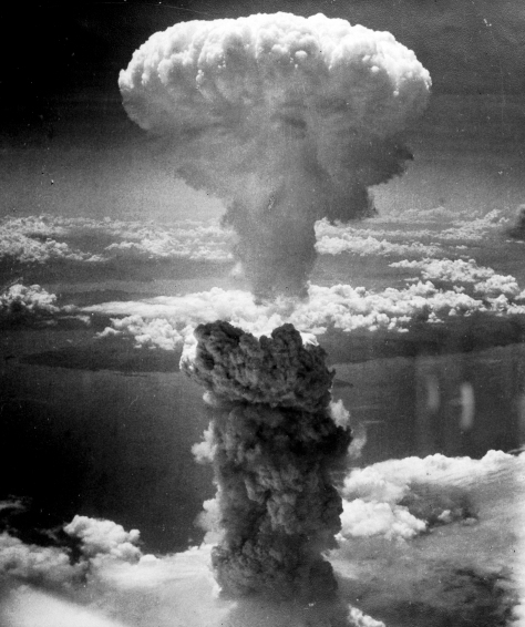 Nagasakibomb The atomic bombing of Nagasaki on 9th August 1945.