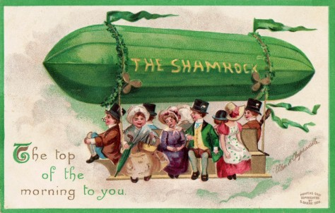 St. Patrick's Day postcard 1908 written 1910