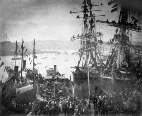 Sydney, 3rd March 1885. Departure of the NSW Contingent for Sudan.