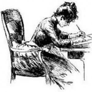 woman-writing-victorian