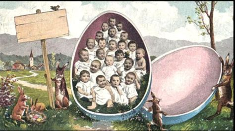 The odd world of Victorian Easter cards._88780071_eggbabies