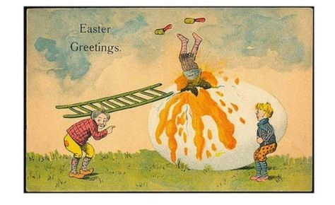 The odd world of victorian easter cards in times gone by for Odd victorian names