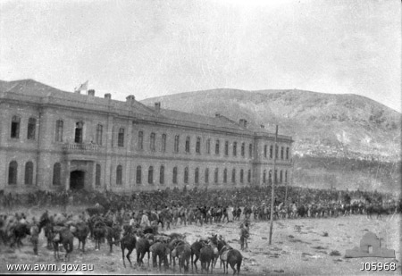 4ALHinDamascus The Turkish Hospital in Damascus on 1 October 1918, shortly after the entry of the Australian 4th Light Horse Regiment.