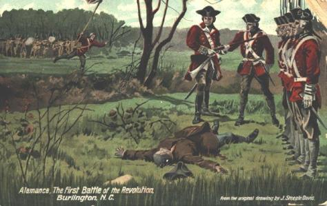 Battle_of_Alamance_Postcard Battle of Alamance Postcard 16th May 1771