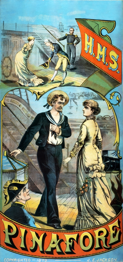 H_m_s_pinafore_restoration 1878 – Gilbert and Sullivan's comic opera H.M.S. Pinafore opens at the Opera Comique in London. 25th May 1878.