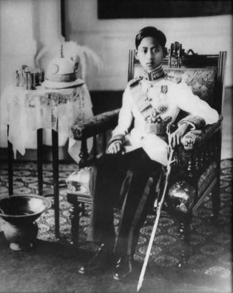 Ananda_Mahidol_portrait_photograph Portrait photograph of King Ananda Mahidol of Thailand 1930s