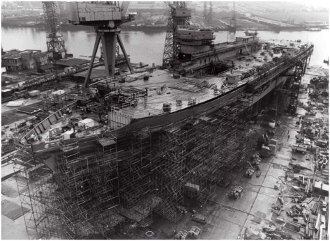 HMS Ark Royal was the former flagship of the Royal Navy. Keel was laid by Swan Hunter at Wallsend on 7th December 1978 and launched on 20th June 1981