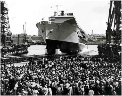 HMS_Ark_Royal_-_Launch_-_20th_JUNE_1981 HMS Ark Royal is launched. 20th June 1981.