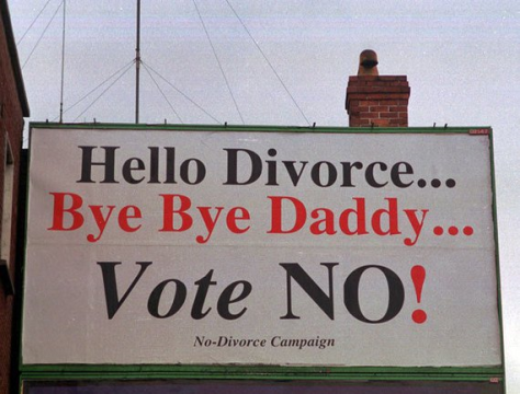 Irish campaign against the Divorce Referendum.