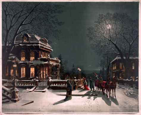 No_Known_Restrictions_Christmas_Eve_by_J__Hoover,_no_date_(LOC)_(2122063062) Christmas Eve, chromolithography. 1890.