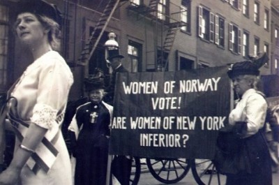 Norwegian women, participating in a woman suffrage parade in New York, 1913. women's suffrage