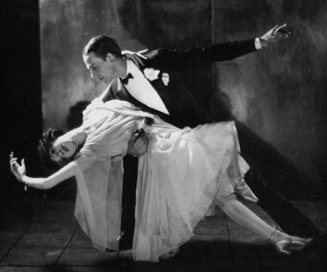 Publicity photograph of Fred Astaire and Adele Astaire in 1921.