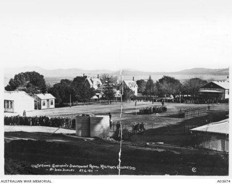 Royal Military College, Duntroon Canberra Australia. Opened 27th June, 1911.
