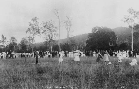 StateLibQld_1_202487_Labour_Day_Festivities_at_Canungra,_1914 This is an image of the Labour Day festivities in Canungra in Queensland, Australia in 1914. The holiday fell on the 4th of