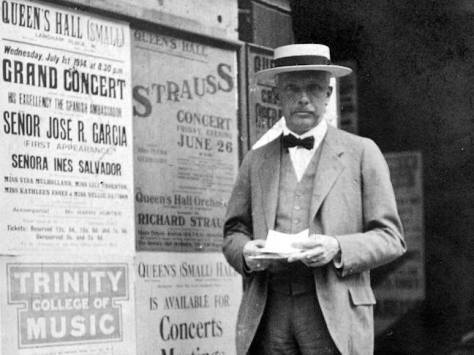 Strauss1914London Richard Strauss by poster for his concert on 26th June. 20th June 1914.