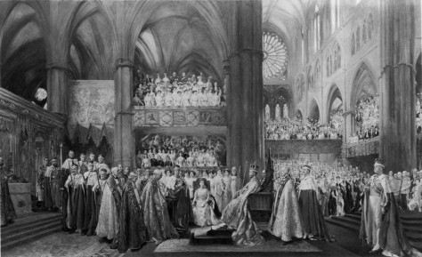 The Coronation Ceremony of His Most Gracious Majesty King George V in Westminster Abbey. 22nd June 1911 by John Henry Frederick Bacon.