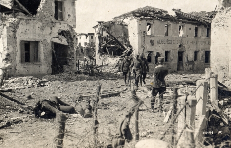 WWI_-_Nervesa_after_Italian_forces_retook_it World War 1 - Italian Army Nervesa after Italian forces retook it 1918