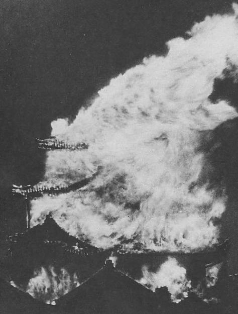 Burning_Nagoya_CastleBurning Nagoya Castle 14th May 1945 Allied Air Raid Second World War