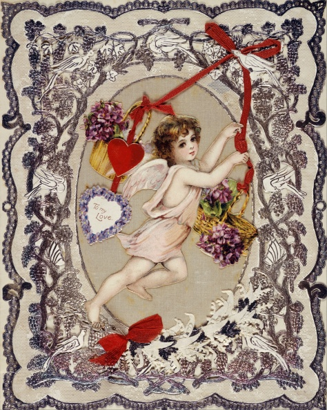 Card;_valentine_card_-_Google_Art_Project Museum of London Valentine's Day Victorian Era