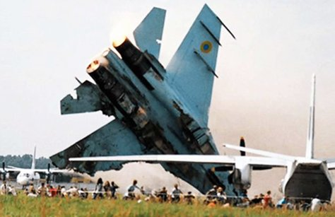 OTD in 2002, the #Sknyliv airshow disaster occurred near Lviv. A Su-27 crashed into the crowd killing 77 incl 23 children. 543 were injured.