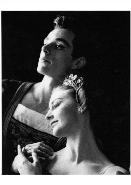 Swan Lake Royal Ballet School performance 1960 with Shirley Grahame. — with Shirley Grahame Kershaw. Bryan Lawrence.