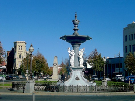 The Alexandra Fountain is arguably the most prominent monument in Bendigo. Designed by W.C.Vahland. 1881.