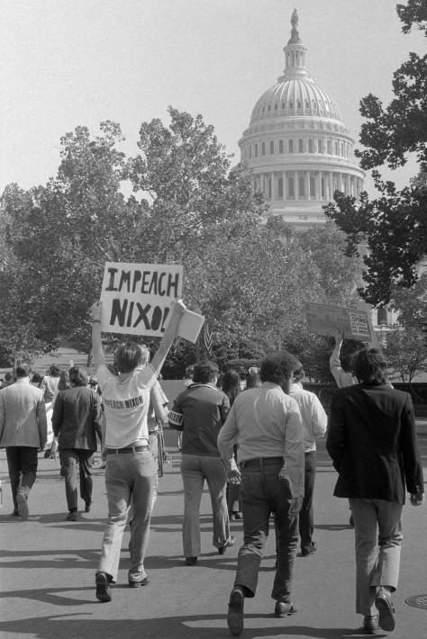 Impeach_Nixon_retouched 22nd October 1973 Impreach Nixon Watergate scandal 1970s Washington D.C.