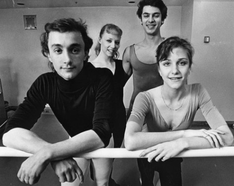 Photograph caption dated March 2, 1986 reads, The new generation of ABT dancers (from left) Gil Boggs, Amanda McKerrow, John Turjoman and Bonnie Moore. American Ballet Theatre