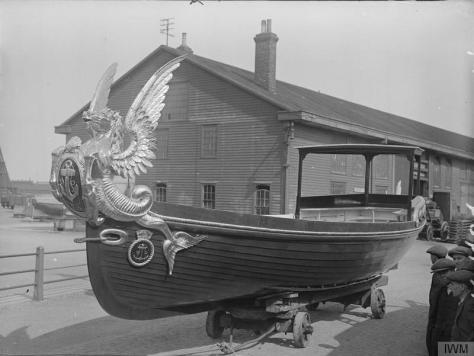 The_Royal_Navy_in_Britain,_1919-1939_Q20453The Admiralty Barge at Chatham, 1st August 1919.