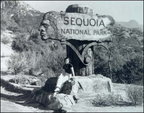 Ash Mountain Entrance Sign, Sequoia National Park.