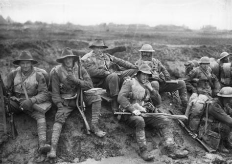 AWM_E00019_5th_Div_1916 Soldiers of the Australian 5th Division near Mametz in December 1916. Somme.