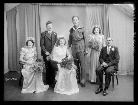 Creator-_H__Allison_&_Co__Photographers_(5511923143)14th September 1945 Burton family of Caledon, County Tyrone County Armagh Northern Ireland - Wedding Portrait
