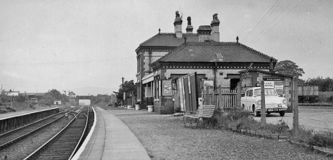 Buckley Junction Station Flintshire Wales 20th May 1961