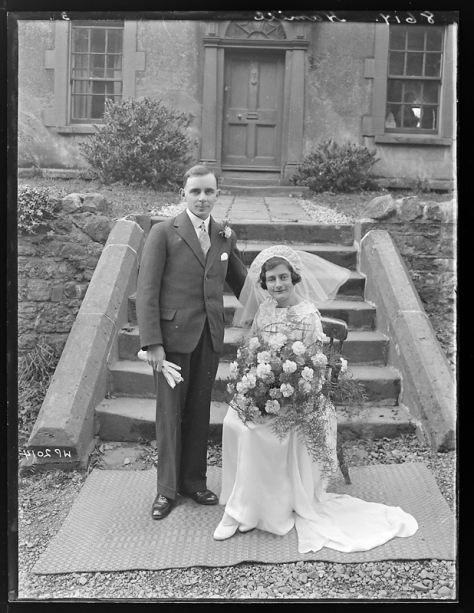 Creator-_H__Allison_&_Co__Photographers_(5279797155)Hamill family of Dungannon, County Tyrone - Wedding Portrait 17th October 1935 Northern Ireland. Vintage Wedding. Vintage Bride.