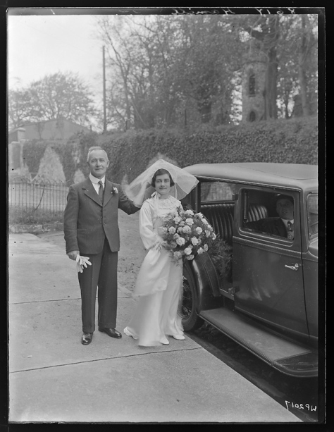 Creator-_H__Allison_&_Co__Photographers_(5279797155)Hamill family of Dungannon, County Tyrone - Wedding Portrait 17th October 1935 Northern Ireland. Vintage Wedding. Vintage Bride..
