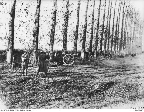 In this image an unidentified cinematographer captured the last shots to be fired before the armistice on 11 November 1918 #RemembranceDay First World War World War One