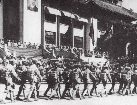PLA_Troops_entered_to_Guangzhou Communist People's Liberation Army troops entered to Guangzhou on October 14, 1949. China 14th October 1949.