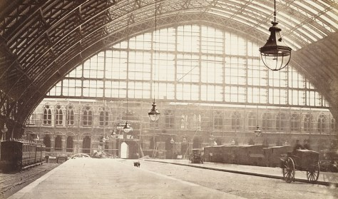 St Pancras Railway Station London Victorian Era the year it opened 1868