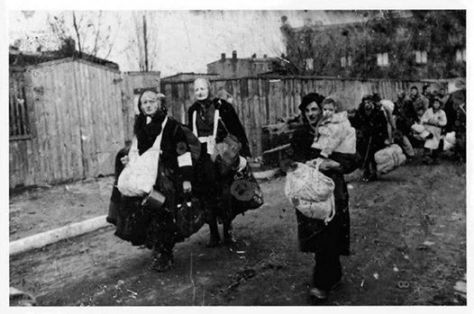 The people of western Ukraine being deported to Siberia by Stalin_s government. 1940s.