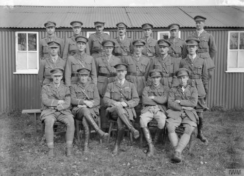 The_Anti-aircraft_Warfare_on_the_Western_Front,_1914-1918_Q279Officers at the 16th Course of Instruction at the General Headquarters of the Anti-aircraft School, Royal Artillery; 17th Oc