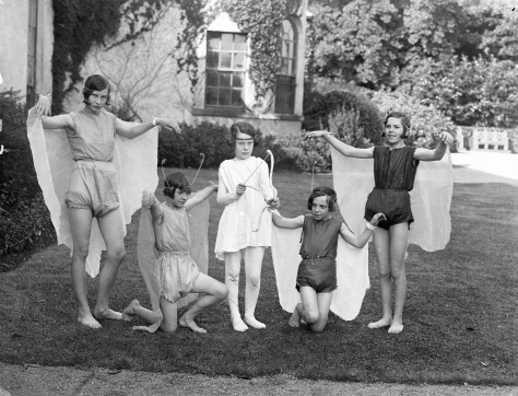 Tuesday 2nd September 1930,_County_Waterford,_Ireland,_1930sThese girls (fairies wood nymphs) were rehearsing for a charity performance organised by Lady Irene Graham of Mount Congreve,