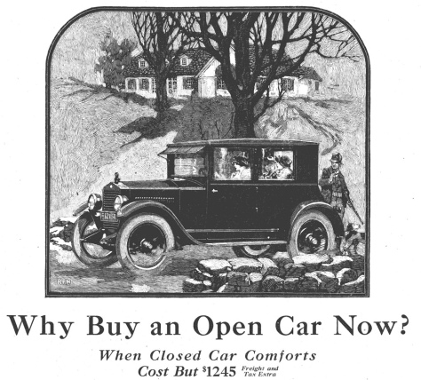 1923 Essex coach advertised by Essex in Country Gentleman, November 4, 1922.