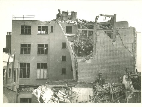 On 23rd February 1944 The London Library came within a few feet of being totally destroyed. Bombed Second World War Two