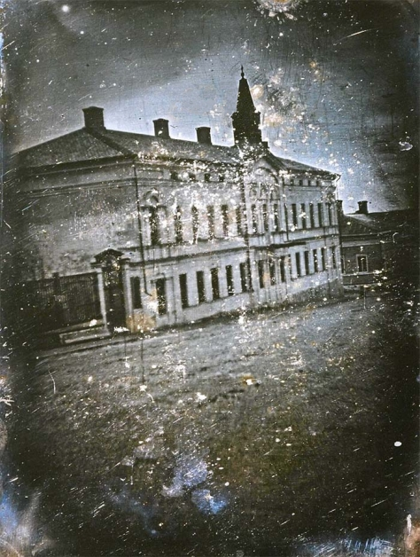 The first daguerreotype photograph taken in Finland was a daguerreotype taken by Henrik Cajander on 3rd November 1842 of Nobel House at Uudenmaankatu 8. The house, with Turku Cathedral i