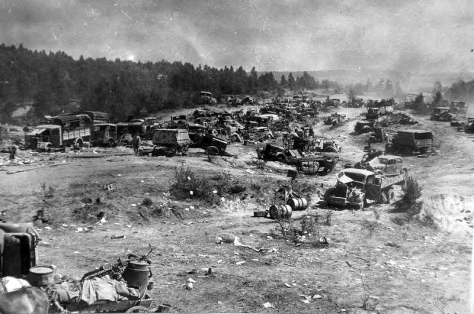 194407_abandoned_german_vehicles_belarus_(revised) Nazi tanks stand abandoned near the city of Babruysk, Belarus in July of 1944. The Soviet Red Army defeated the Germans in the region o