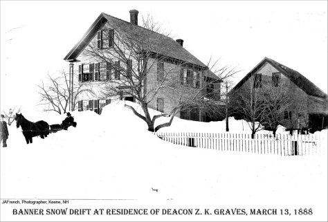 Blizzard_of_March_1888_-_Banner_snow_drift_at_residence_of_Deacon_Z_K__Graves_(4382430724)Blizzard of March 1888 - Banner snow drift at residence of Deacon Z.K. Graves New Hampshire USA